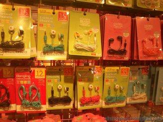 Colourful earpieces.