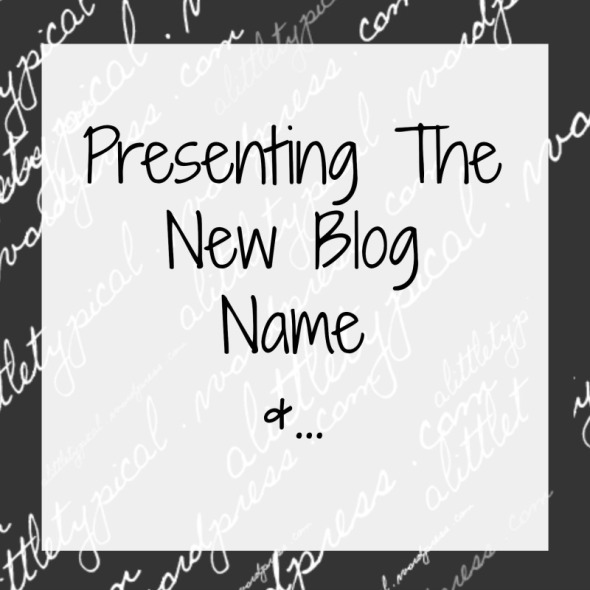 present the new blog name