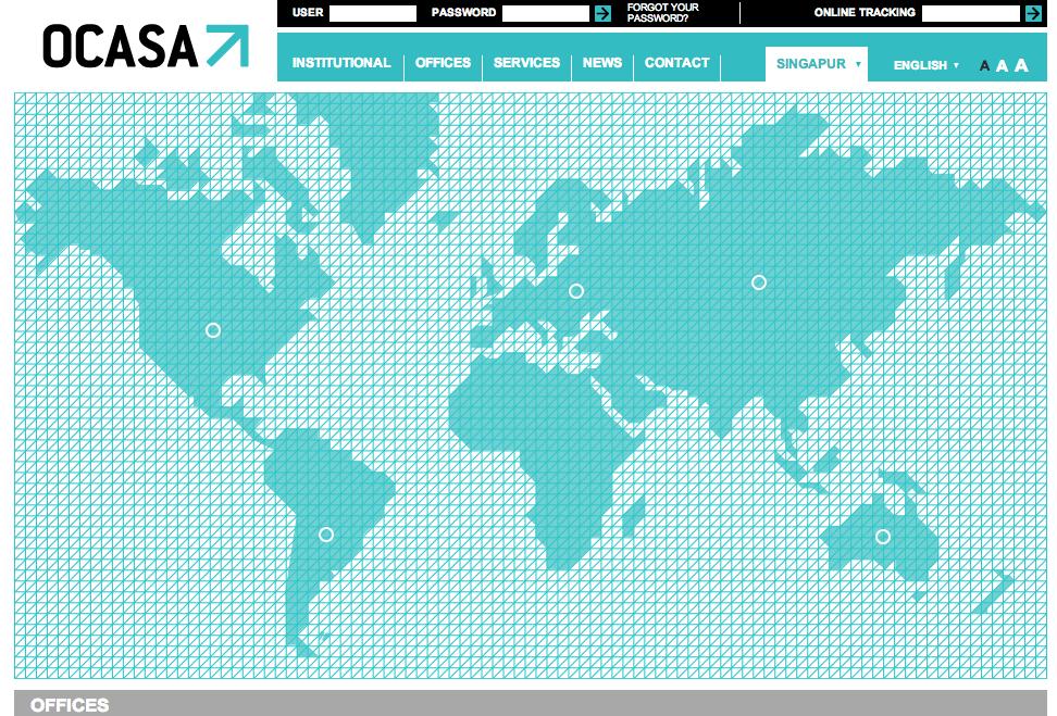 OCASA office map